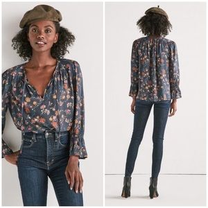 Lucky Brand • floral printed bell sleeve top